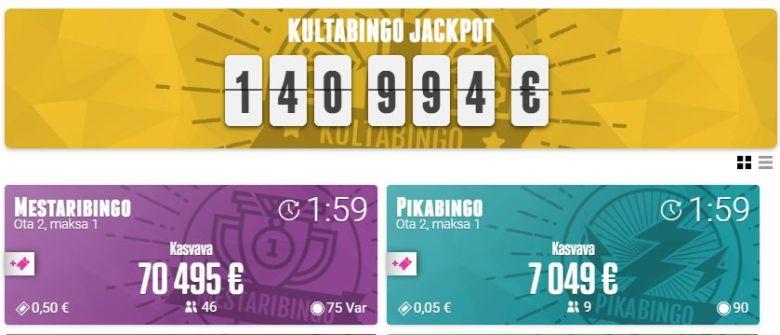 Casinohuoneen bingoja